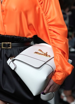 Versace white shoulder bag