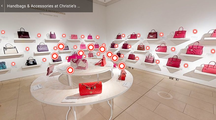 Christies handbag auctions London and New York