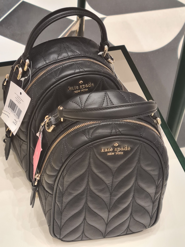 Discount designer bags for AW'20 including a quilted backpack from Kate Spade