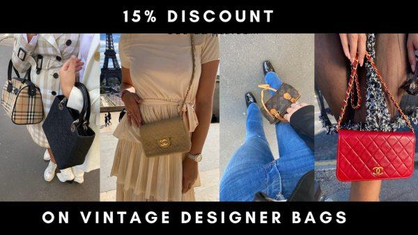 15% off vintage designer bags