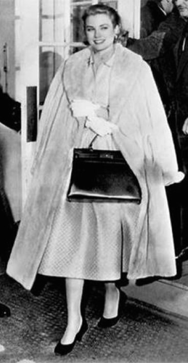 Grace Kelly and her Hermes bag
